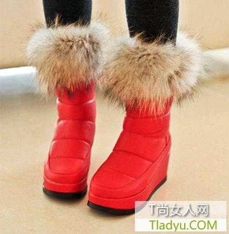 豹纹毛毛靴 让冬天充满温暖气息