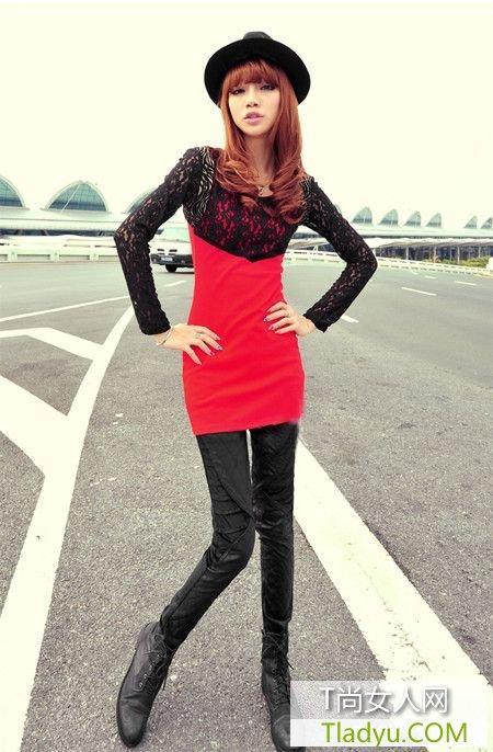 韩版圆领无袖双层蕾丝连衣裙