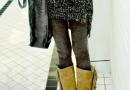 浮夸斑驳拼色花纹超显瘦弹力修身打底裤