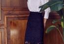 女士短裙半身裙一步裙怎么搭配上衣图片